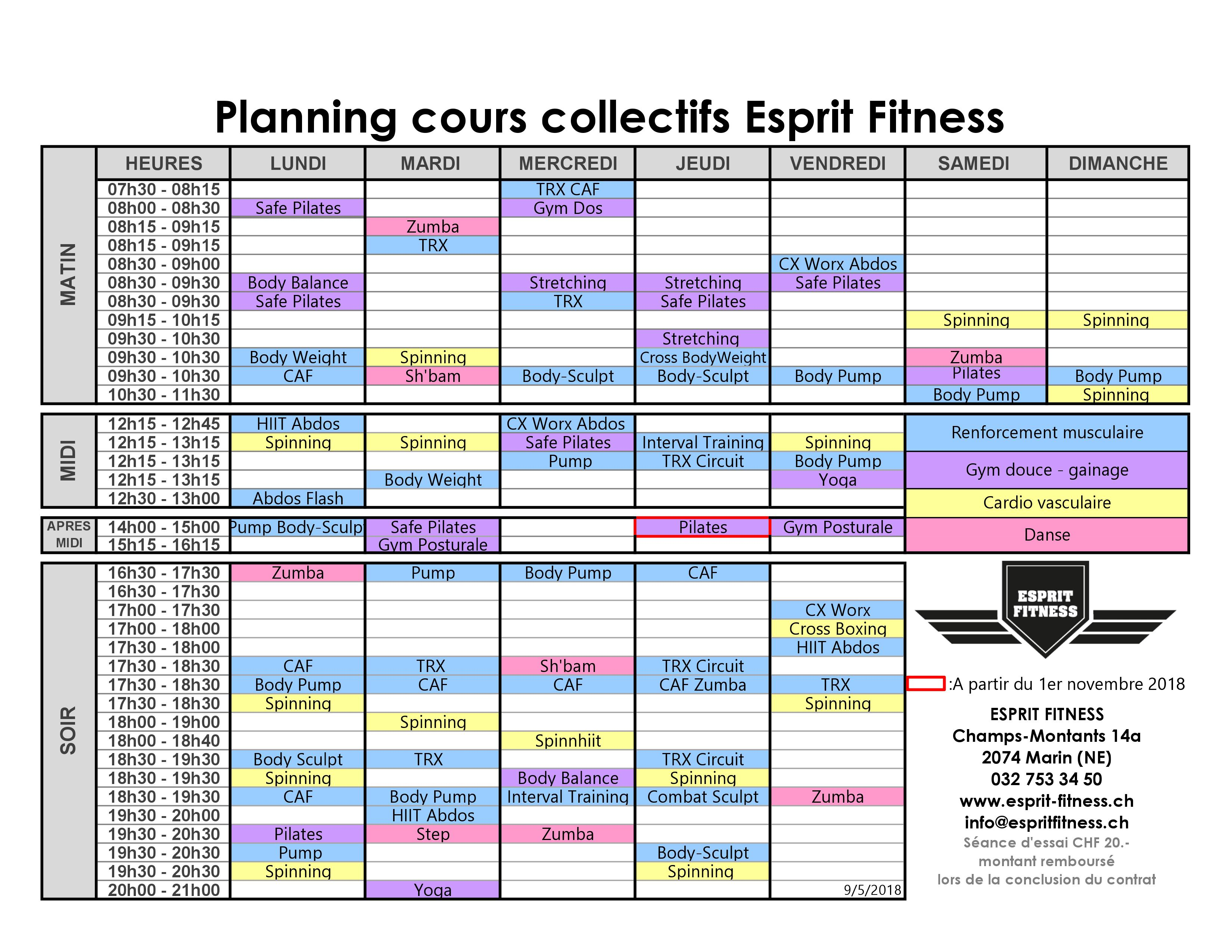 cours-planning